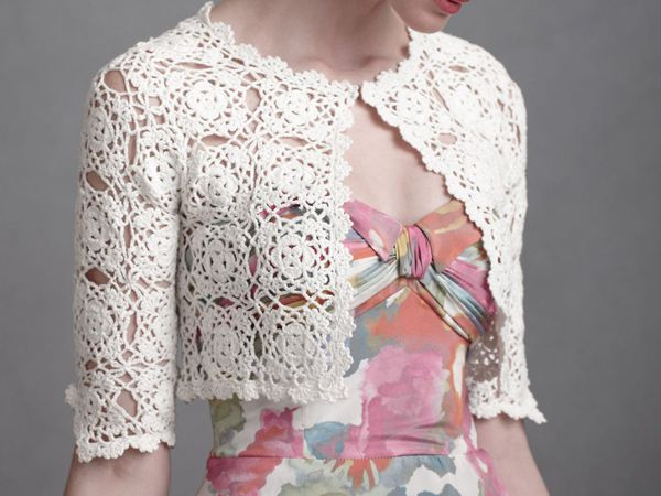 crochet Classic Lacy Bolero free pattern