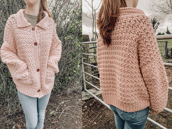 crochet Clobhna Chunky Cardigan free pattern