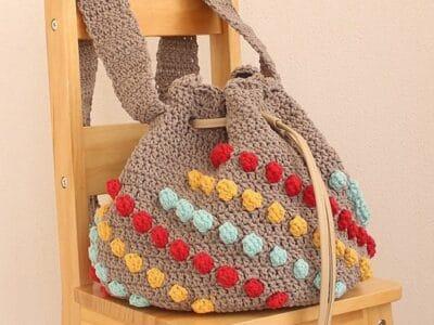 crochet Cotton Waves Handbag free pattern