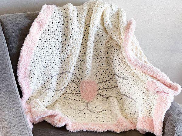 crochet Easter Bunnys Blanket free pattern