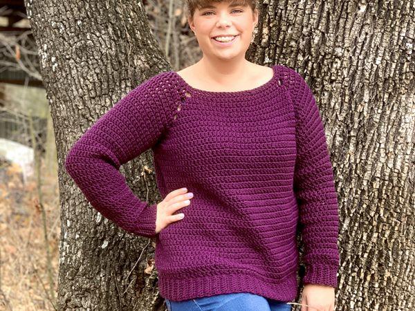 crochet Easy Peasy Raglan Sweater free pattern