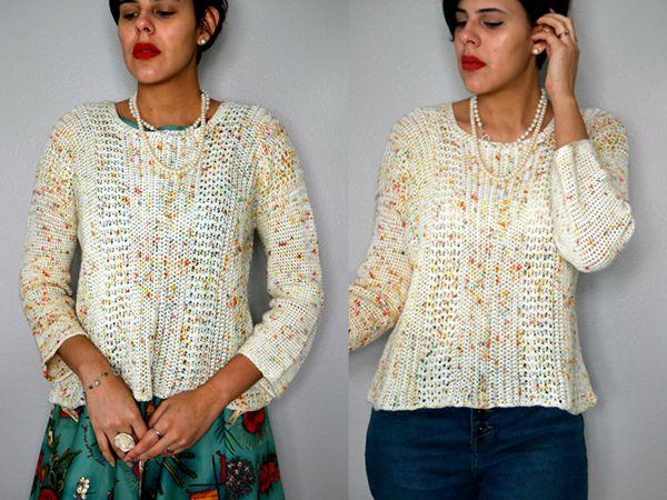 crochet Eat Cake Sweater free pattern