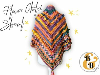 crochet Flower Child Shawl free pattern