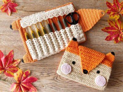 crochet Fox Hook Case easy pattern