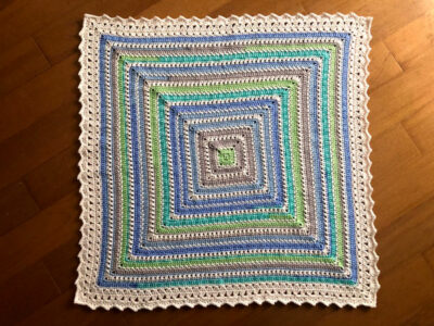 crochet Goodnight Kisses Baby Blanket free pattern