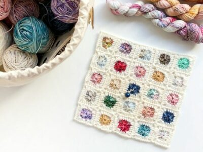 crochet Granny Advent Blanket free pattern