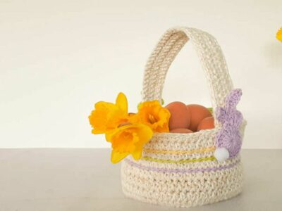 crochet Happy Easter Basket free pattern