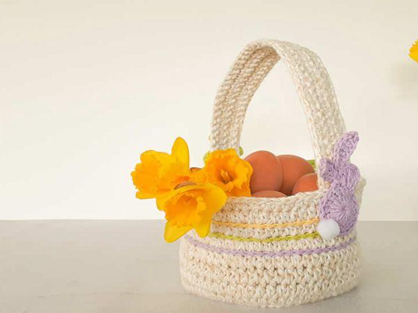 crochet Happy Easter Basket free pattern