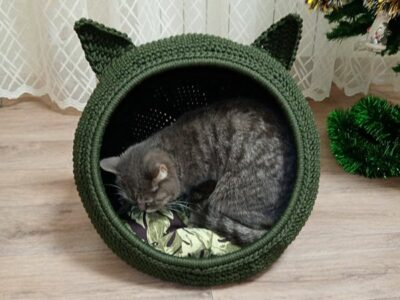 crochet Helen Cat Bed easy pattern