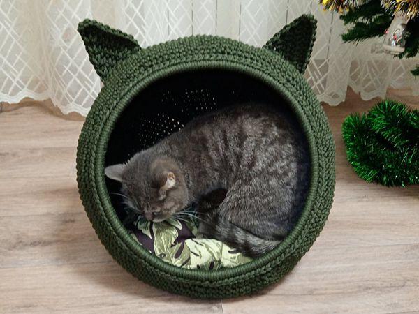 crochet Helen Cat Bed easy pattern