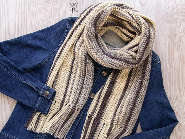 crochet Herringbone Scarf free pattern