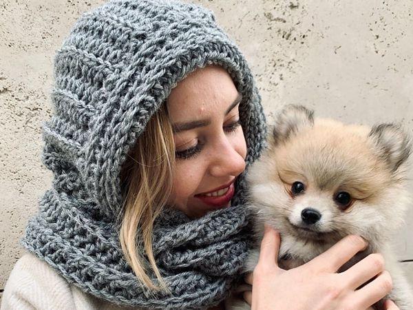 crochet Hooded Alpa Scarf free pattern