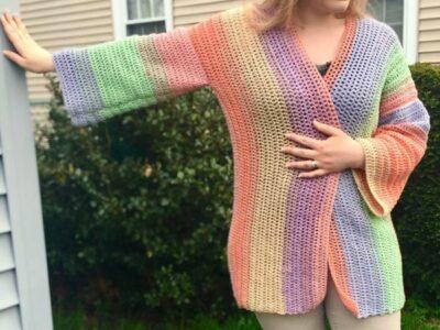 crochet Light and Airy Cardigan free pattern