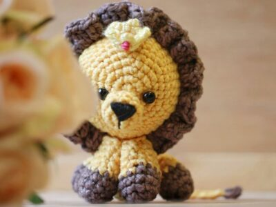 crochet Louis the Lion free pattern