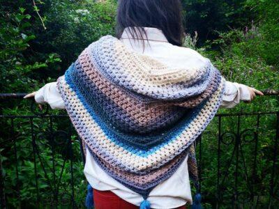 crochet Midnight Sky Wrap free pattern