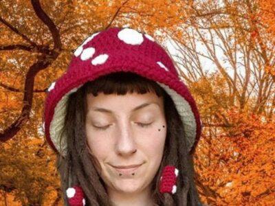 crochet Mushroom Hat easy pattern