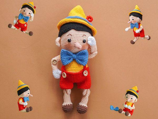crochet Pinocchio Amigurumi easy pattern
