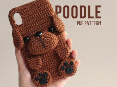 crochet Poodle Phone Case easy pattern