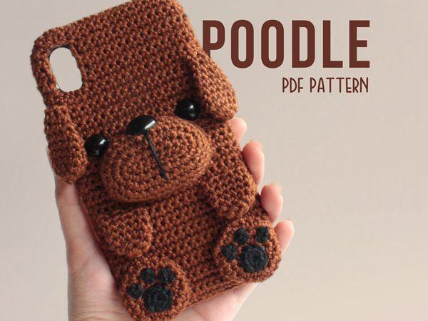crochet Poodle Phone Case easy pattern
