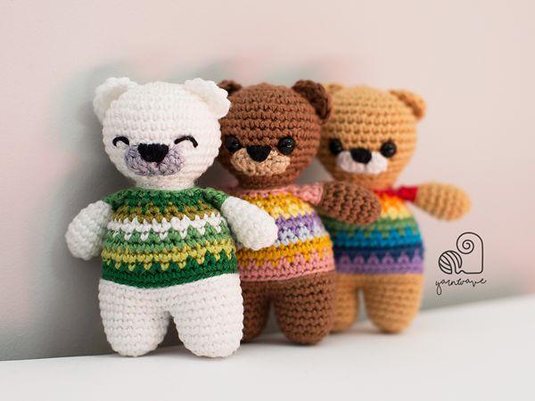 crochet Rainbow Teddy free pattern