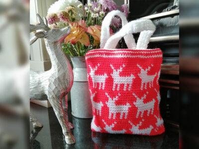 Reindeer Mini Tote Bag