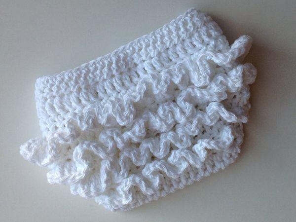 crochet Ruffle Bum Baby Diaper Cover easy pattern