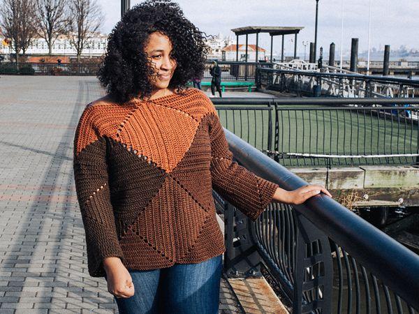crochet Salt Lake Sweater free pattern