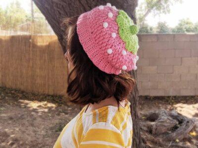 crochet Strawberry Hat easy pattern