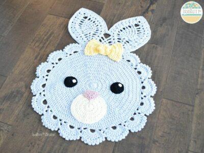 crochet Sunny The Playful Bunny Rug easy pattern