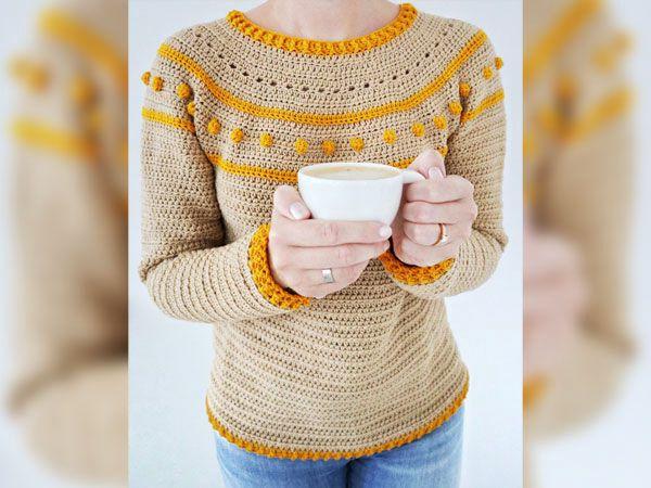 crochet Sunrise Sweater easy pattern