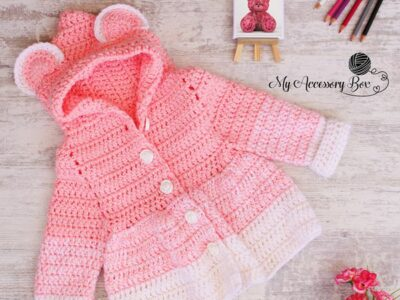 crochet Teddy Bear Jacket free pattern