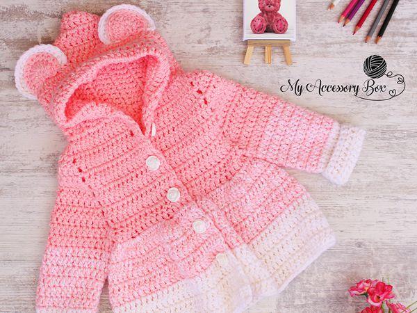 crochet Teddy Bear Jacket free pattern