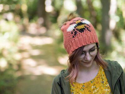 crochet The Bee Beanie easy pattern