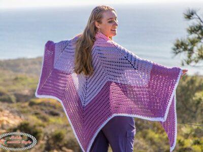 crochet Tulip Chevron Shawl free pattern