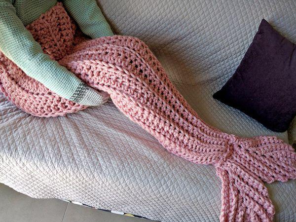 crochet adult Mermaid Tail Blanket easy pattern