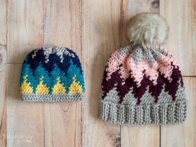 Crochet Chevron Hat free pattern