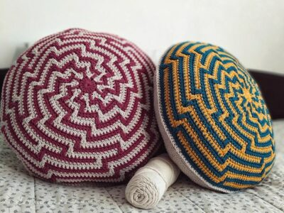 crochet Alquimia Cushion free pattern