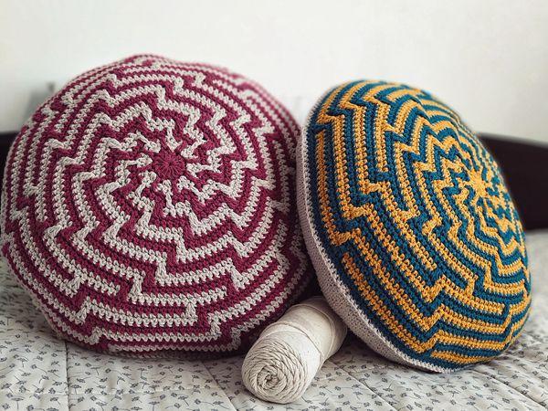 crochet Alquimia Cushion free pattern