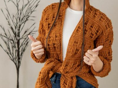 crochet Basket Weave Cardigan easy pattern