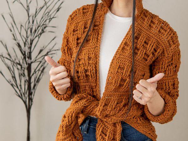 crochet Basket Weave Cardigan easy pattern