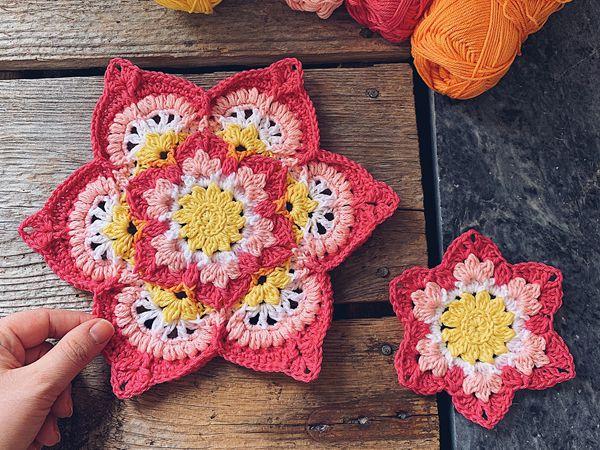 crochet Blooming Lotus Flower free pattern