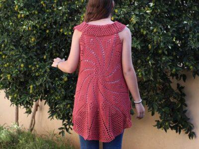 crochet Bohemian Waistcoat Vest free pattern