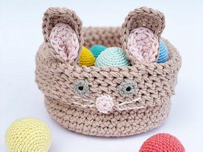 crochet Bunny Easter Basket free pattern