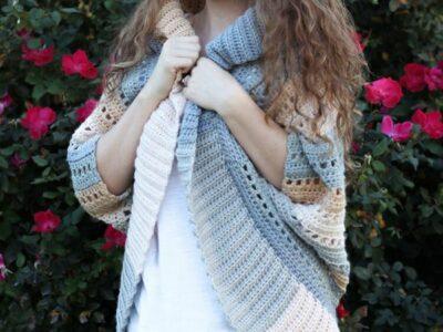 crochet Dakota Shrug free pattern