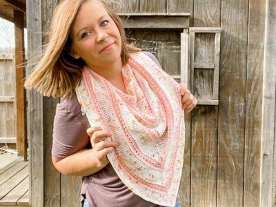 crochet Darling Dahlia Shawl free pattern