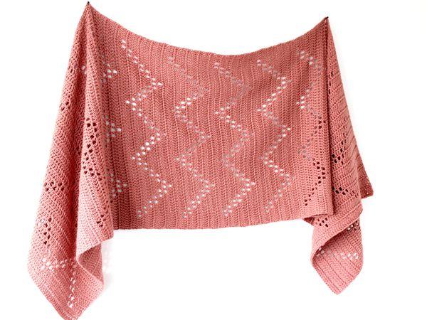 crochet Devon Sideways Shawl free pattern