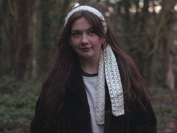 crochet Elegant Hair scarf free pattern