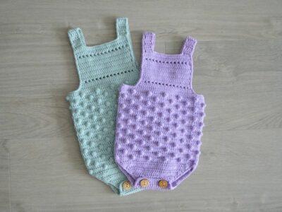 crochet Ezra Baby Romper easy pattern
