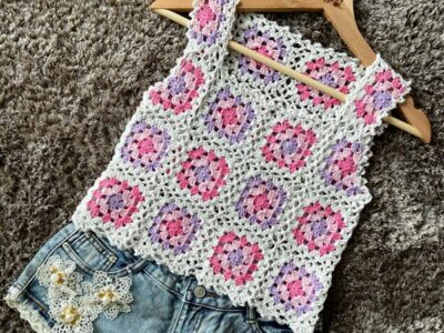 crochet Granny Squares Summer Top free pattern