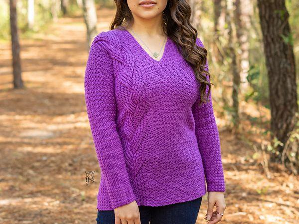 crochet Intertwine Pullover free pattern